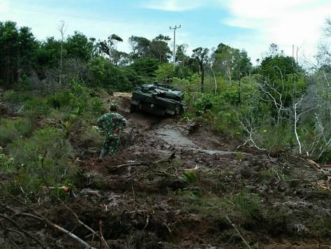 Medan berat yang harus ditempuh Leopard 2. foto: formil kaskus