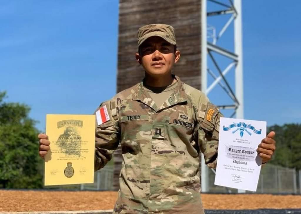 FB IMG 1586214347337 - Perwira TNI AD Kapten Inf Teddy Indra Wijaya Lulus Ranger School di AS